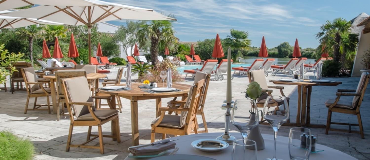 Enjoy your breakfast or lunch on our sunny terrace